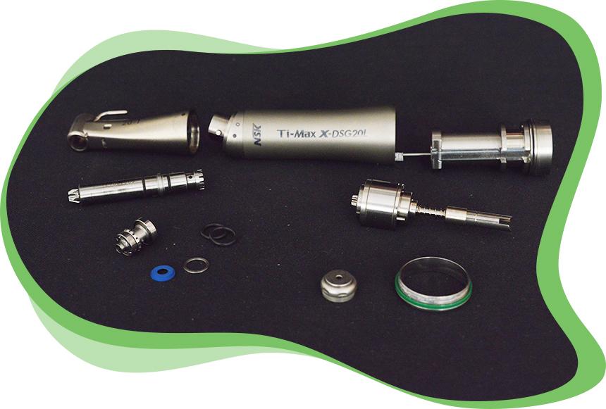 L'atelier dmd Réparations d'Instruments Dentaires - Etapes Réparation d'un Contre-angle d'Implantologie