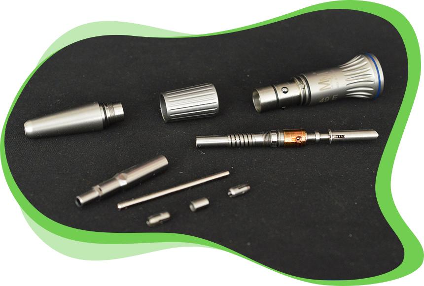 L'atelier dmd Réparations d'Instruments Dentaires - Etapes Réparation d'une Pièce à Main droite